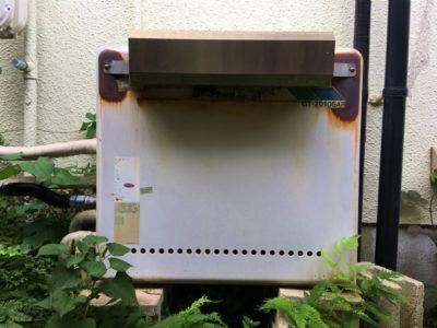 経年劣化した給湯器